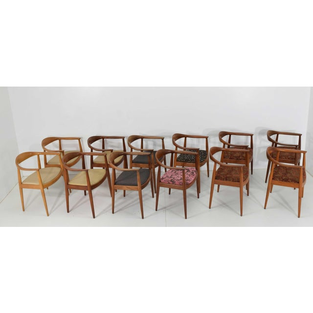 Hans Wegner Round Teak Dining Chairs - a Pair (8 Available) For Sale - Image 10 of 10