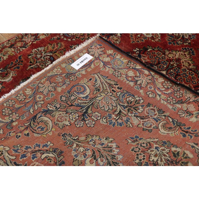 Early 20th Century Antique Sarouk Persian Rug With Traditional Style - 03'04 X 04'08 For Sale - Image 5 of 10