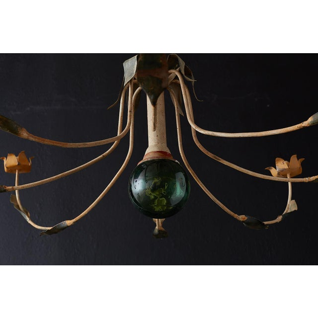 Early 20th Century Rustic French Iron Twelve-Light Candle Chandelier For Sale - Image 5 of 13