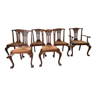 Mahogany Dining Room Chairs - Set of 6 For Sale