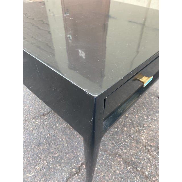 Mount Airy Furniture Company 1950s Mid-Century Mount Airy Black Lacquered Occasional Table For Sale - Image 4 of 13