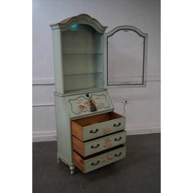 Jasper Vintage Hand Painted Chinoiserie Secretary Desk Image 2 Of 10