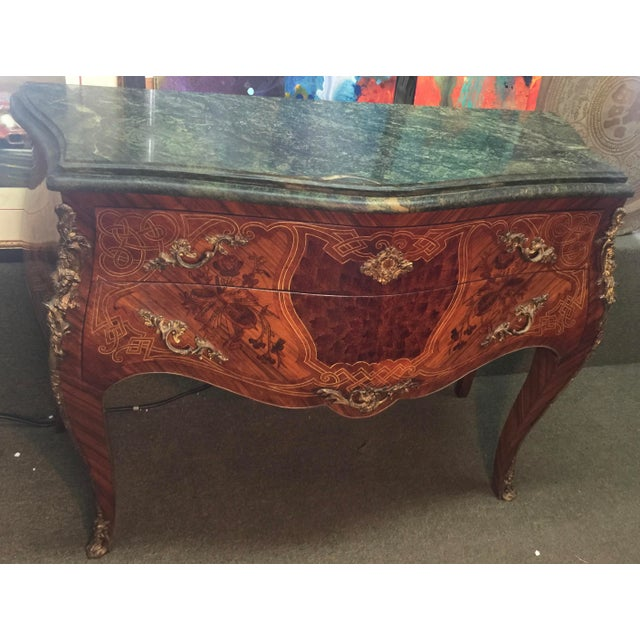 French Louis XV Style Marble Commode For Sale - Image 9 of 12
