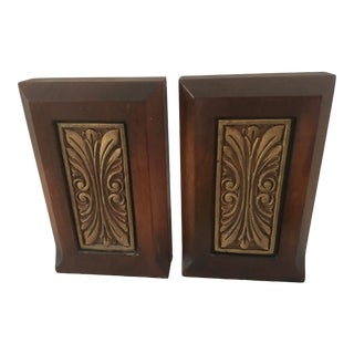 1930s Art Deco Walnut Bookends - a Pair For Sale