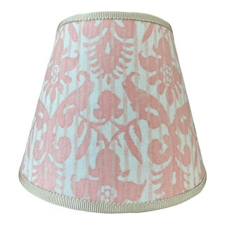 Contemporary Pink Fortuny Fabric Night Light For Sale