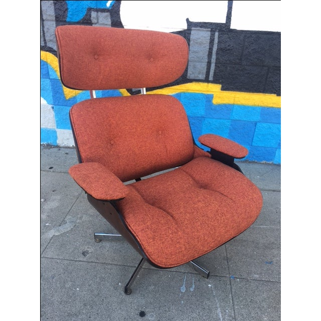 Mid-Century Lounge Chair & Ottoman - Image 5 of 5