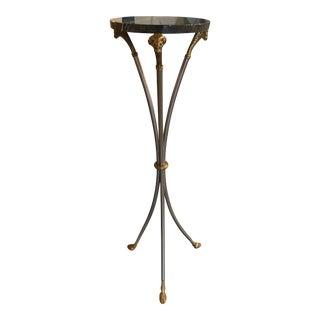 1960s Vintage Jansen Style Ram's Head Pedestal For Sale