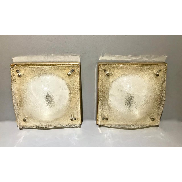 Pair of Murano Sconces, C. 1980 For Sale In Los Angeles - Image 6 of 7