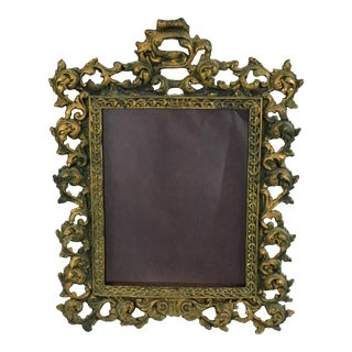 Early 20th Century Antique Victorian Brass Frame For Sale
