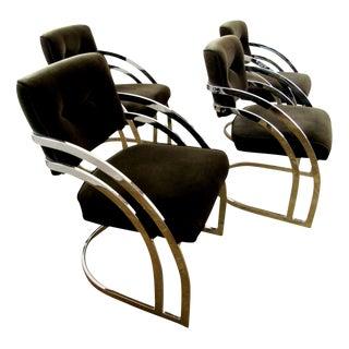 Milo Baughman Chrome Chairs For Sale