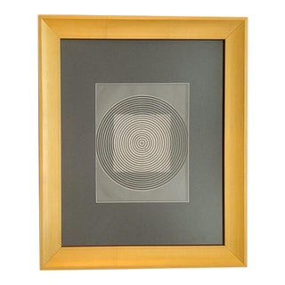 Victor Vasarely Circular Opt Art Print For Sale
