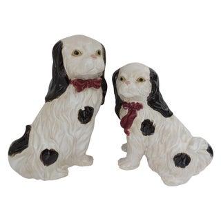 Porcelain Spaniel Figurines - Pair For Sale