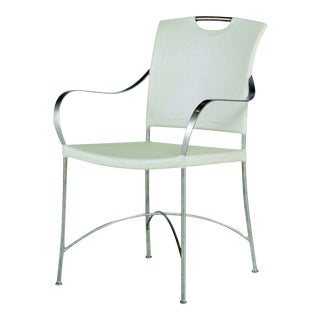 Century Furniture Canvas Arm Chair, Ivory For Sale