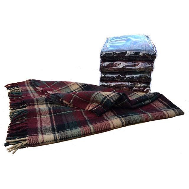 Vintage Faribault Plaid Pak a Robe Wool Blankets - Set of 5 - Image 1 of 8