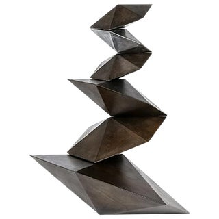 Contemporary Phi Geometric Steel Sculpture by Topher Gent For Sale