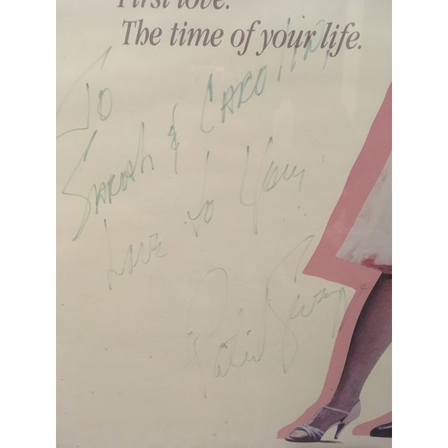 "Contemporary Autographed Patrick Swayze ""Dirty Dancing"" Poster For Sale - Image 3 of 4"