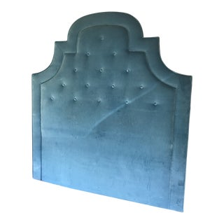 Queen Size Tufted Velvet Headboard For Sale