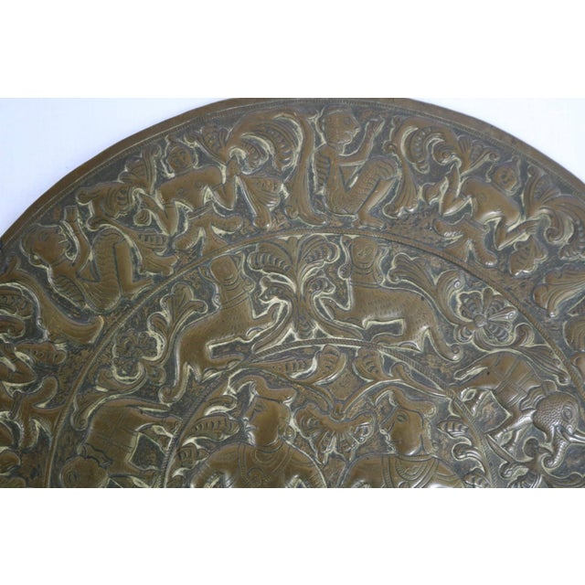 18th Century Antique Brass Plaque For Sale - Image 4 of 8