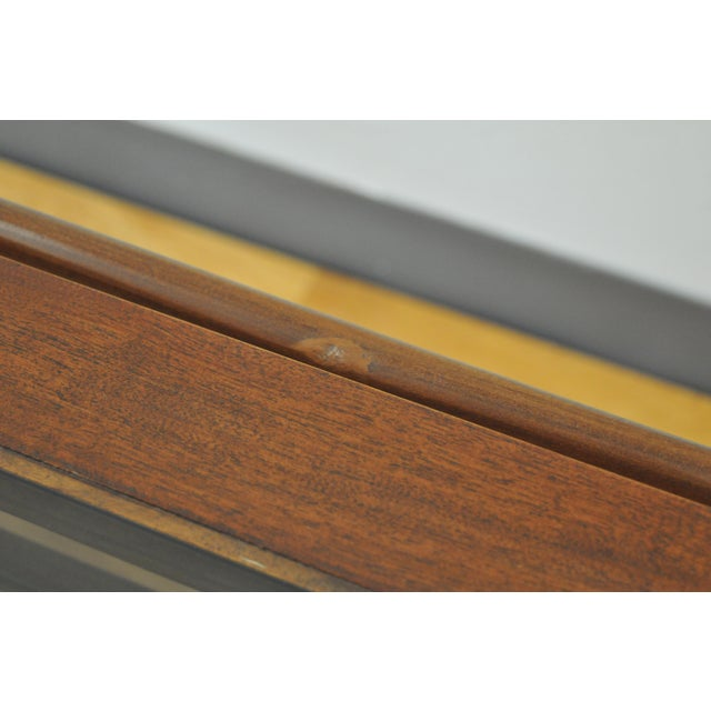 1960s Scandinavian Modern Wood and Glass Coffee Table For Sale - Image 4 of 6