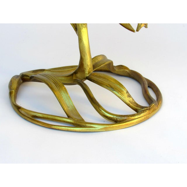 "Mid 20th Century Drexel ""Arthur Court"" Lily Gilded Cast Aluminum Table, 1969 For Sale - Image 5 of 9"