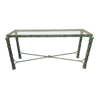 1970s Copper Paint Decorated Console Table For Sale
