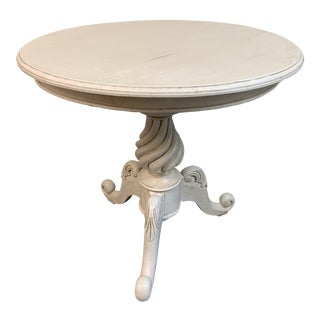 Mid-20th Century Shabby Chic Turned Table For Sale