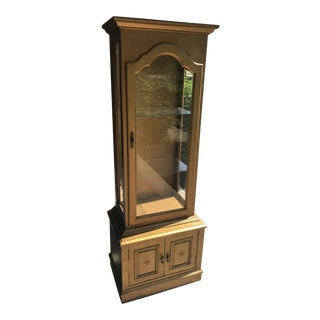 Antique Lighted Curio Cabinet For Sale