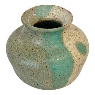 Vintage Handmade Midnite Pottery Vase For Sale