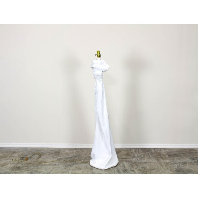Paint Draped Plaster Floor Lamps in the Manner of John Dickinson For Sale - Image 7 of 7