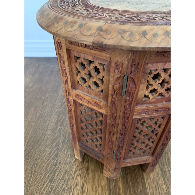 Moroccan Moroccan Octagonal Side Table For Sale - Image 3 of 7