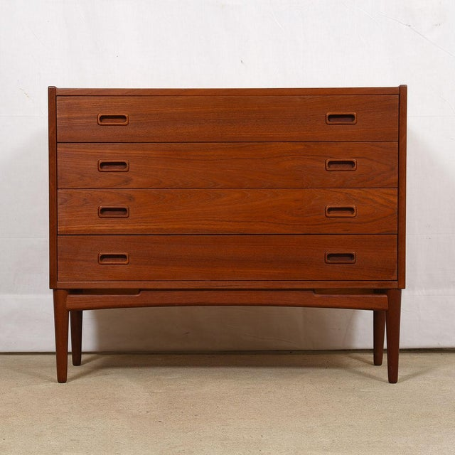 Mid 20th Century Arne Hovmand-Olsen for Mogens Kold Teak Petite Chest For Sale - Image 5 of 7