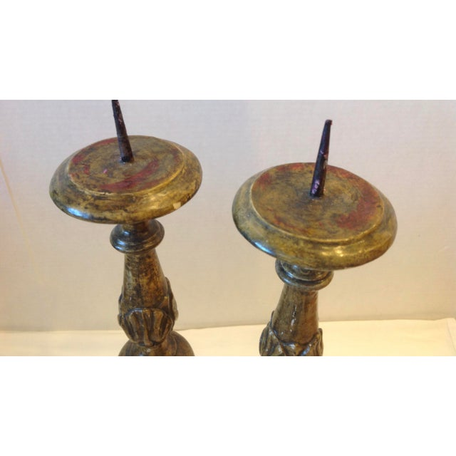 Vintage Italian Pricket Sticks - a Pair For Sale - Image 10 of 13