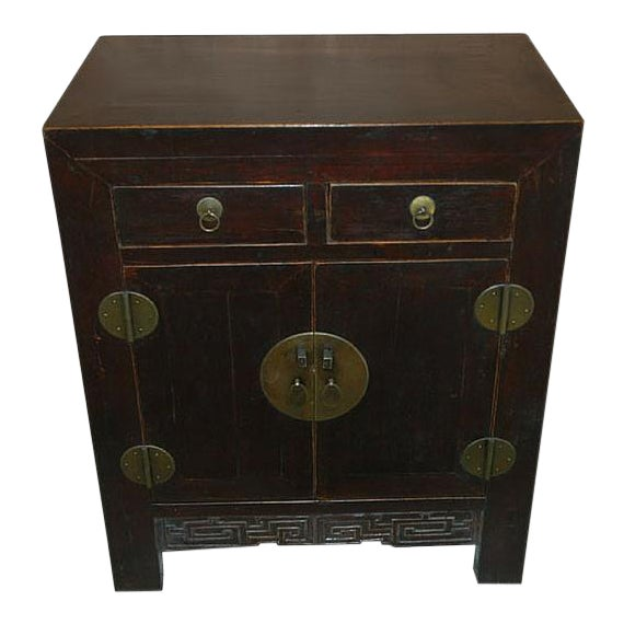 1900s Chinese Dark Wood Chest For Sale