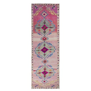 1960s Vintage Turkish Rug - 5′2″ × 16′ For Sale