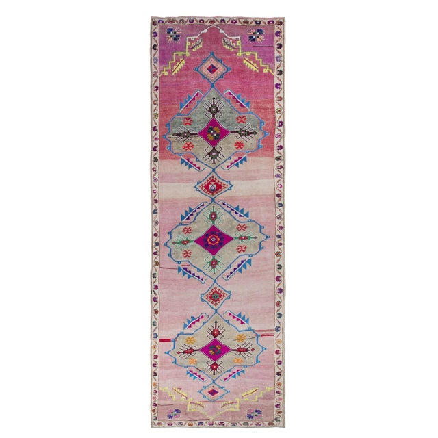 1960s Vintage Turkish Rug - 5′2″ × 16′ For Sale