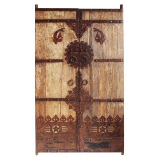 Antique Chinese Elm Door For Sale