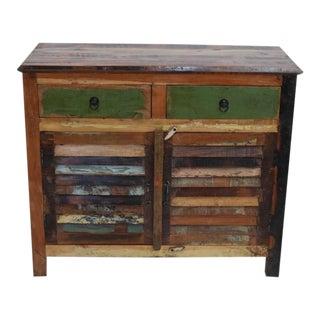 Reclaimed Boat Wood Shutter Cabinet