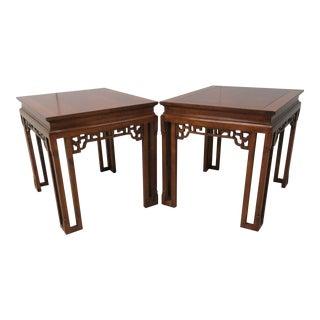 Wellington Hall Chinoiserie Cherry Side Tables - A Pair