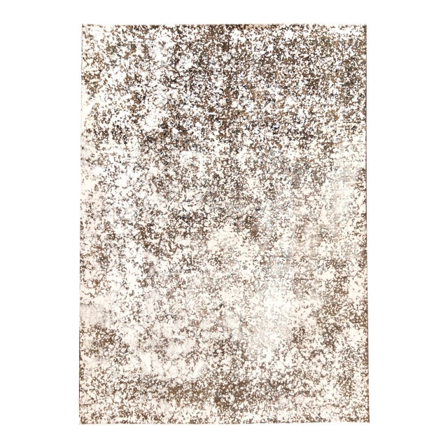 """Vintage Overdyed Rug, 8'0"""" X 11'1"""" For Sale"""