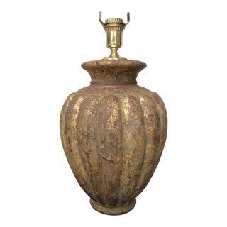 Vintage Heavy Italian Gilded Table Lamp