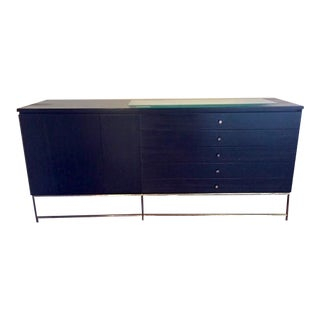 Mahogany and Brass Credenza by Paul McCobb