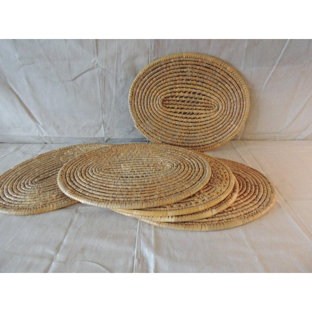 Set of (6) Oval Woven Abaca Placemats For Sale In Miami - Image 6 of 9