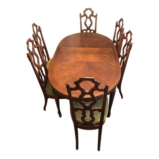 Mid-Century Dining Table and Chairs For Sale