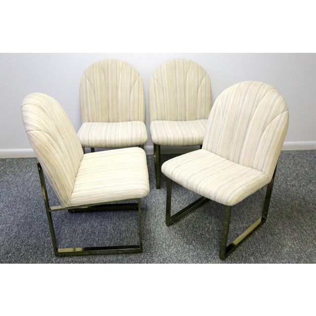 1990s Thayer Coggin Mid-Century Dining Chairs - Set of 4 For Sale - Image 5 of 13