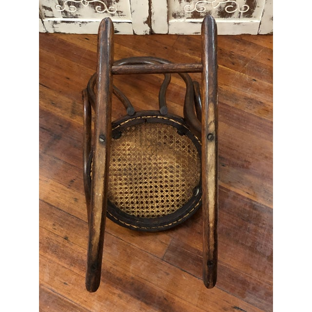 Late 20th Century Late 20th Century Vintage Thonet Bentwood Childs Cane Set Rocker For Sale - Image 5 of 13