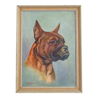 French Bull Dog Portrait | Original Oil Painting For Sale