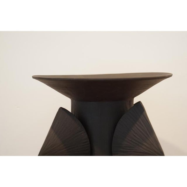 Contemporary Black Totem Small With Lip For Sale - Image 3 of 5