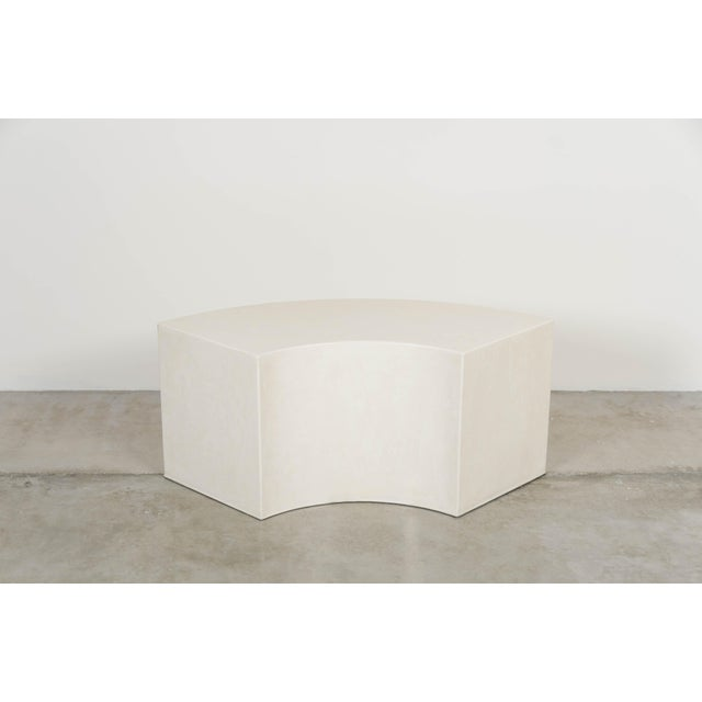 2010s Curve Bench - Cream Lacquer by Robert Kuo, Hand Made, Limited Edition For Sale - Image 5 of 5
