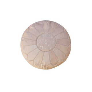 Natural Tan Moroccan Pouf For Sale