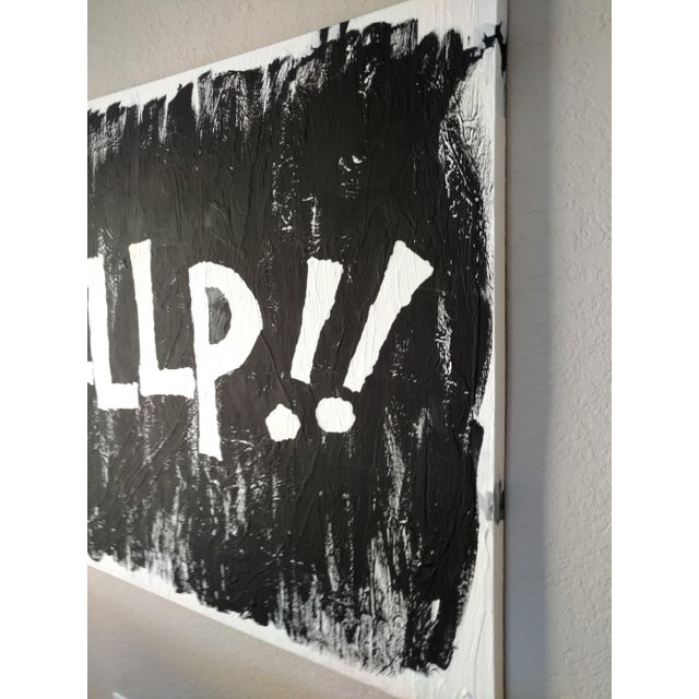 Modern Black & White Political Painting: GOP - Image 8 of 11